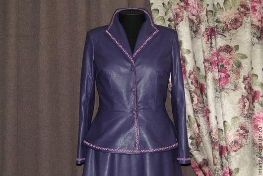 Верхняя одежда ручной работы. Ярмарка Мастеров - ручная работа. Купить Куртка. Handmade. Куртка из кожи, модная куртка