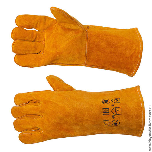 Другие виды рукоделия ручной работы. Ярмарка Мастеров - ручная работа. Купить Перчатки жаростойкие (краги). Handmade. Серый, печь