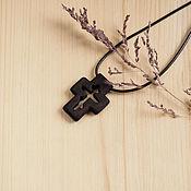 """Украшения ручной работы. Ярмарка Мастеров - ручная работа """"Обет"""" - деревянный нательный крест из кипариса. Handmade."""