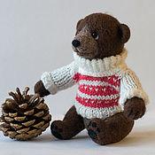 Куклы и игрушки ручной работы. Ярмарка Мастеров - ручная работа Валяный медведь Тимоша. Handmade.