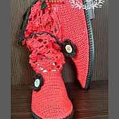 Обувь ручной работы. Ярмарка Мастеров - ручная работа Полусапожки летние , полусапожки вязанные , полусапожки женские. Handmade.