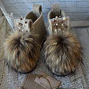 """Обувь ручной работы. Ярмарка Мастеров - ручная работа Дизайнерские валенки  """"Жемчужина Натуральная"""". Handmade."""