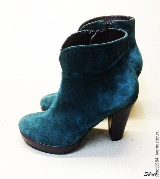 Обувь ручной работы. Ярмарка Мастеров - ручная работа. Купить Женские ботинки. Handmade. Ботинки, натуральная кожа, ботинки на каблуке