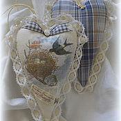 """Подарки к праздникам ручной работы. Ярмарка Мастеров - ручная работа Большое текстильное сердце """"Скоро весна..."""". Handmade."""