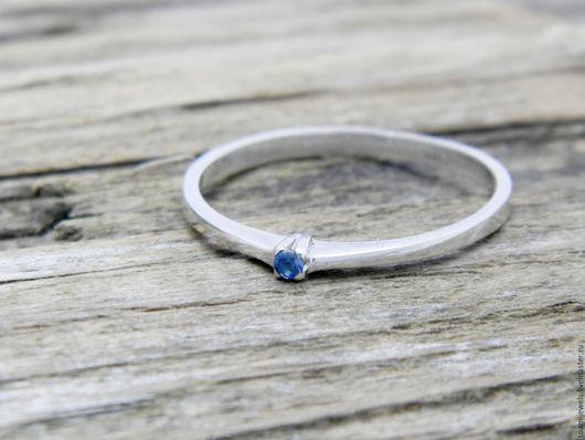 Кольца ручной работы. Ярмарка Мастеров - ручная работа. Купить Помолвочное кольцо c сапфиром, серебро 925 пробы. Handmade.