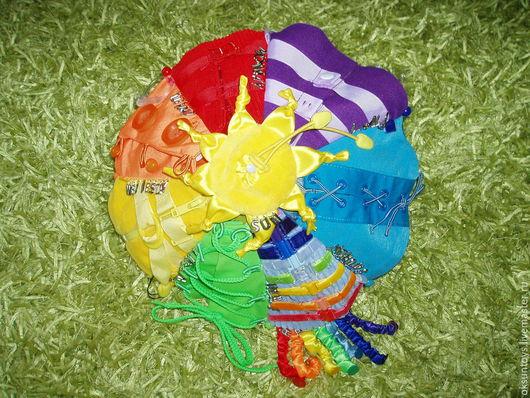 Развивающие игрушки ручной работы. Ярмарка Мастеров - ручная работа. Купить развивающая игрушка застежка зонтик-погода-дни недели на английском. Handmade.