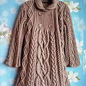 handmade. Livemaster - original item Coat knitted based on