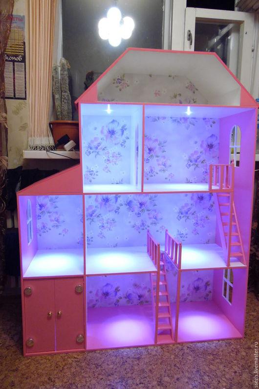 Кукольный дом ручной работы. Ярмарка Мастеров - ручная работа. Купить Кукольный домик 2. Handmade. Кукольный дом, фанера
