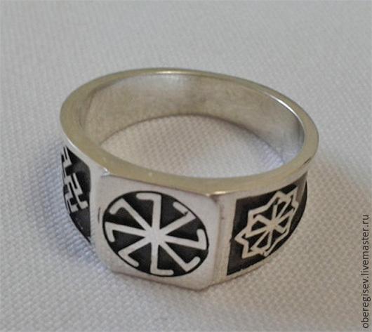 Перстень `Колядник- Молвинец-Одолень Трава`  из серебра с чернением 7-9гр.- 1600руб. - Под заказ (7дн.);