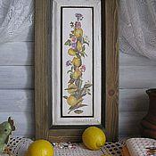 Картины и панно ручной работы. Ярмарка Мастеров - ручная работа Панно на фасаде Сочные лимоны. Handmade.