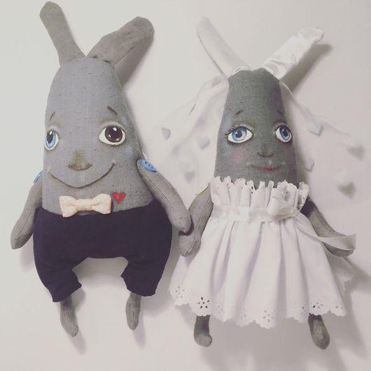 Игрушки животные, ручной работы. Ярмарка Мастеров - ручная работа. Купить Зайцы свадебные. Зайцы на свадьбу. Handmade. Заяц
