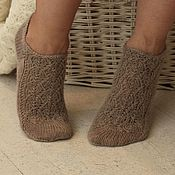 Аксессуары handmade. Livemaster - original item Socks, wool, delicate short