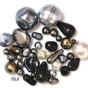 Материалы для творчества handmade. Livemaster - original item 20 grams Czech seed beads mix Anthracite 0010 glass beads Preciosa. Handmade.