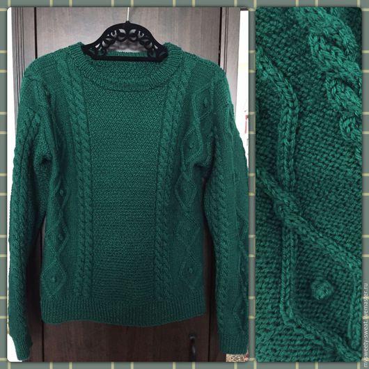 Кофты и свитера ручной работы. Ярмарка Мастеров - ручная работа. Купить Candy winter. Handmade. Тёмно-зелёный, зимние узоры