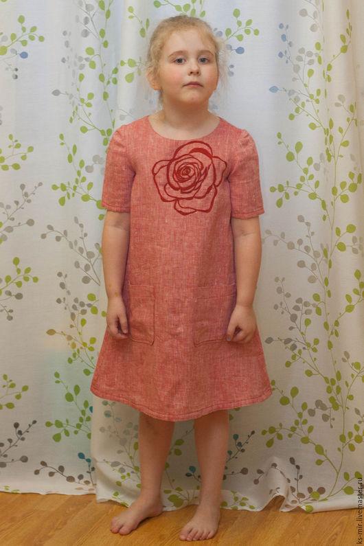Одежда для девочек, ручной работы. Ярмарка Мастеров - ручная работа. Купить Платье для девочки. Handmade. Коралловый, платье для девочки