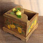 """Для дома и интерьера ручной работы. Ярмарка Мастеров - ручная работа Салфетница , """"Лимоны"""". Handmade."""