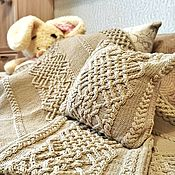 Для дома и интерьера handmade. Livemaster - original item Blankets: Large knitted blanket (bedspread) Magnificent gift. Handmade.