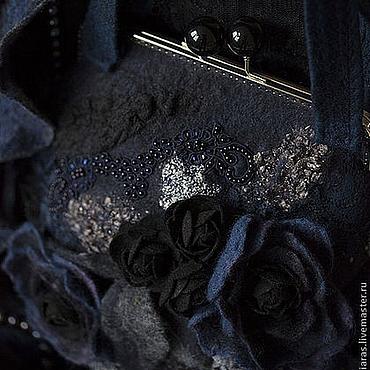 """Сумки и аксессуары ручной работы. Ярмарка Мастеров - ручная работа вечерняя сумка и шарфик ручной работы """"Ночная фиалка"""". Handmade."""
