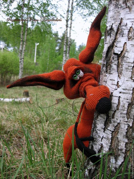 Игрушки животные, ручной работы. Ярмарка Мастеров - ручная работа. Купить Игрушка вязаная Лис Ганс. Handmade. Рыжий