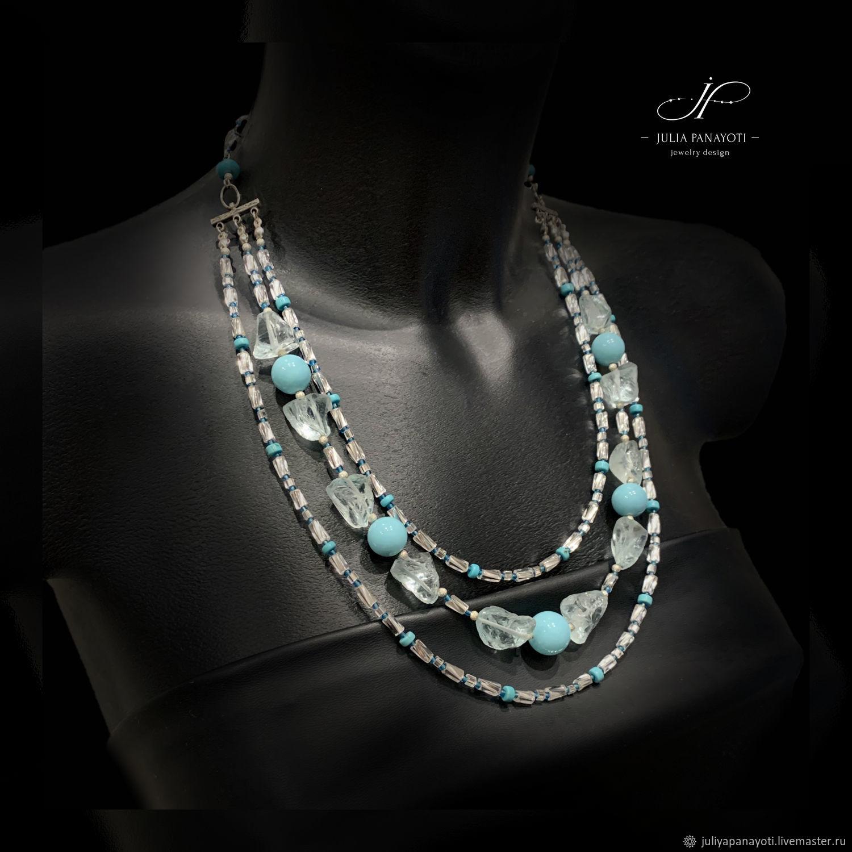 Necklace 'Blue Curacao', Necklace, Murmansk,  Фото №1