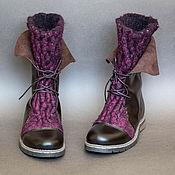 Обувь ручной работы. Ярмарка Мастеров - ручная работа Сапоги женские войлочные с кожей. Handmade.
