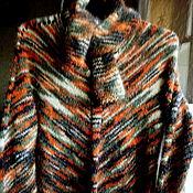 Одежда handmade. Livemaster - original item Sweater with scarf from fancy yarn. Handmade.