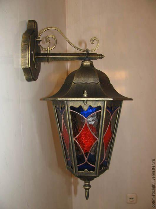 Освещение ручной работы. Ярмарка Мастеров - ручная работа. Купить Уличный светильник. Handmade. Фонарь, тиффани, дачный интерьер
