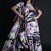 Одежда handmade. Livemaster - original item Summer, long dress with floral print - DR0760CT0DBL. Handmade.