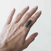 Кольца винтажные ручной работы. Ярмарка Мастеров - ручная работа Кольцо с яшмой,серебро. Handmade.