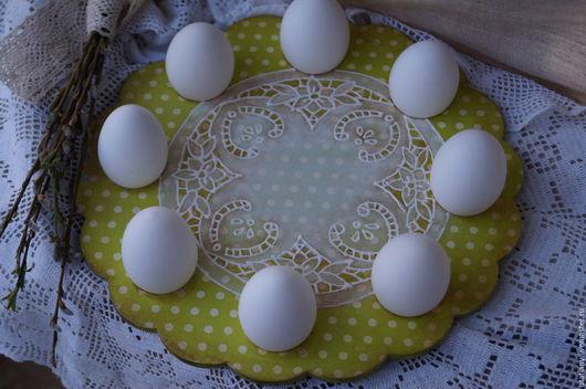 """Подарки на Пасху ручной работы. Ярмарка Мастеров - ручная работа. Купить Подставка для яиц и кулича """"Первая зелень"""". Handmade. Салатовый"""