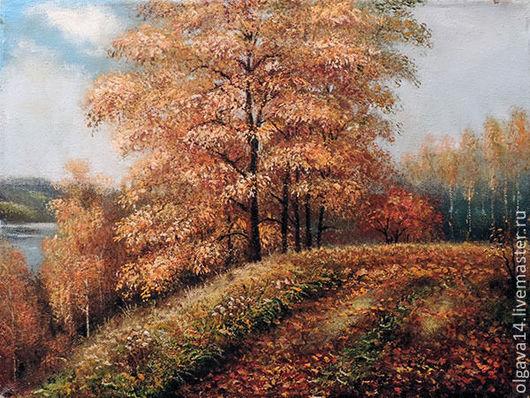 Пейзаж ручной работы. Ярмарка Мастеров - ручная работа. Купить Осенью. Handmade. Осень, картина в подарок, картина для интерьера