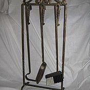 Для дома и интерьера ручной работы. Ярмарка Мастеров - ручная работа кованый инструмент для камина из 3 предметов. Handmade.