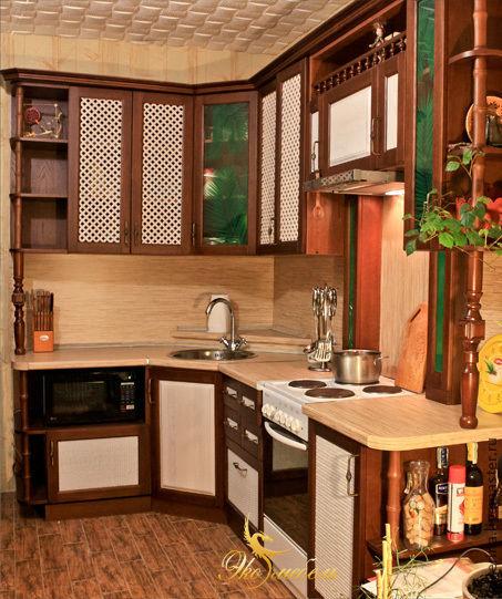 Мебель ручной работы. Ярмарка Мастеров - ручная работа. Купить Кухня в тропическом стиле из массива ясеня. Handmade. Бежевый