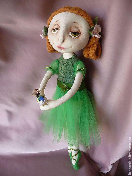 """Коллекционные куклы ручной работы. Ярмарка Мастеров - ручная работа. Купить """" Вечная весна"""" - кукла из грунтованного текстиля. Handmade."""