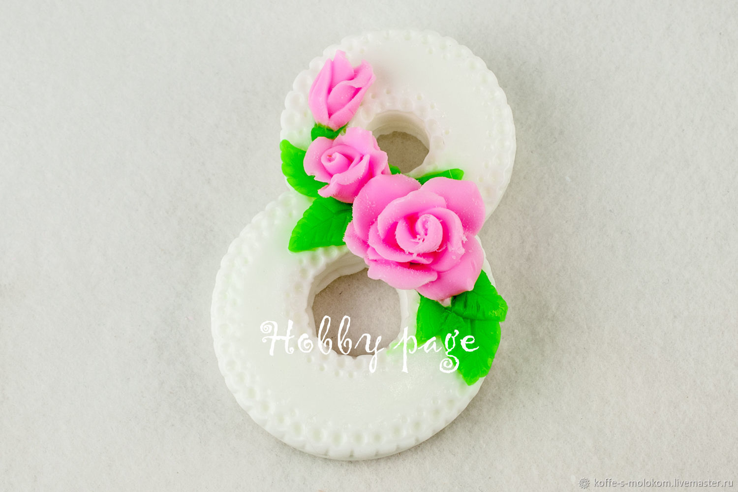 Silicone mold for soap, March 8 three roses, Form, Moscow,  Фото №1