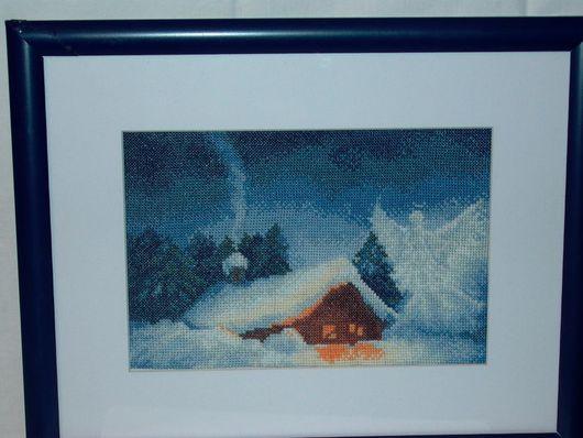 Пейзаж ручной работы. Ярмарка Мастеров - ручная работа. Купить Рожденственская ночь. Handmade. Рождество, рождественский подарок, ангелочек