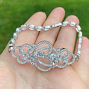 Украшения handmade. Livemaster - original item Silver bracelet with natural aquamarines