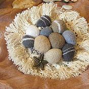 Украшения handmade. Livemaster - original item Brooch sea pebbles with lace fringe. Handmade.