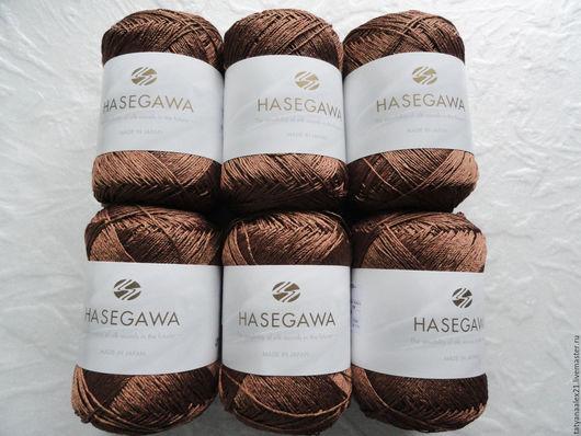 Вязание ручной работы. Ярмарка Мастеров - ручная работа. Купить Пряжа Hasegawa ANEMONE № 657 COFFEE. Handmade.