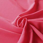 Ткани ручной работы. Ярмарка Мастеров - ручная работа Ткань 33201 летящий итальянский  вискозный креп клубничный. Handmade.