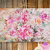 Картины и панно ручной работы. Ярмарка Мастеров - ручная работа Картина маслом «Цветные сны» 50/90см. Handmade.