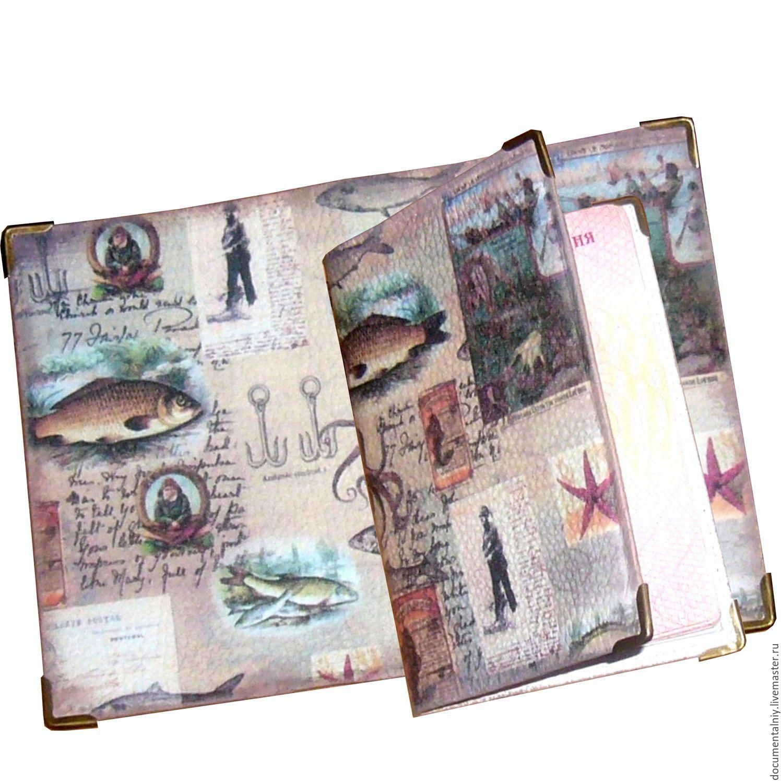 Passport cover or a cover for avtodokumentov 'For the fisherman', Cover, Obninsk, Фото №1