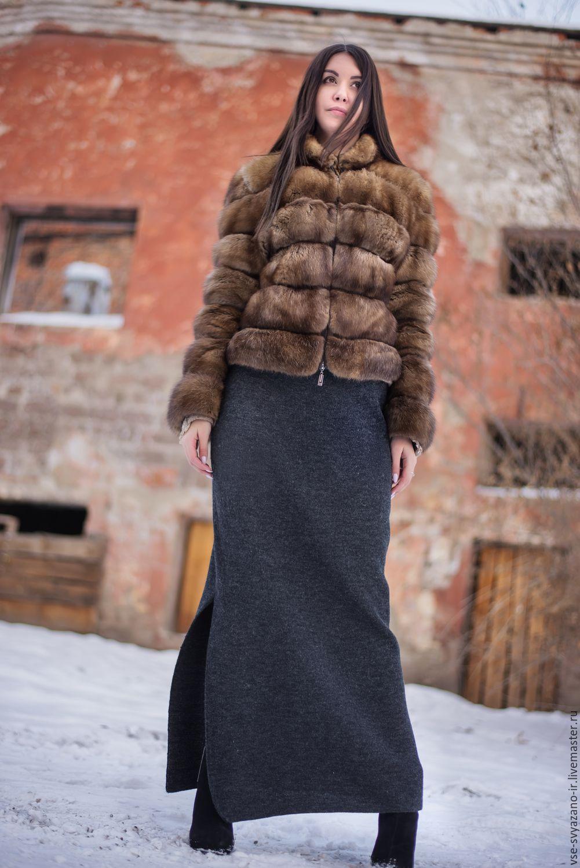 теплая длинная вязаная юбка купить в интернет магазине на ярмарке