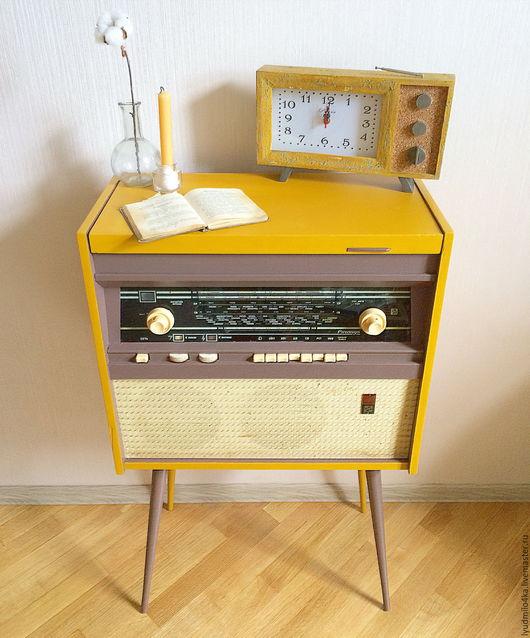 Мебель ручной работы. Ярмарка Мастеров - ручная работа. Купить Новый облик старой радиолы (декор старой мебели). Handmade.