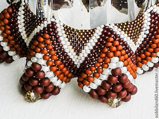 """Колье, бусы ручной работы. Ярмарка Мастеров - ручная работа. Купить Ожерелье """"Кофе Арабика"""".. Handmade. Разноцветный, кофе"""