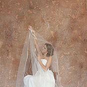 Свадебный салон ручной работы. Ярмарка Мастеров - ручная работа Фата с узким кружевом 2. Handmade.