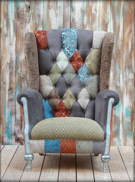 Мебель ручной работы. Ярмарка Мастеров - ручная работа. Купить кресло № 70. Handmade. Кресло с ушами, мебель пэчворк