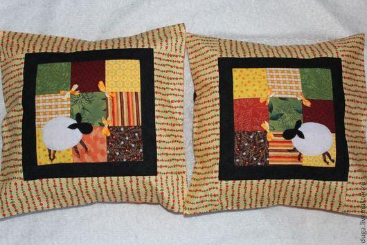 """Текстиль, ковры ручной работы. Ярмарка Мастеров - ручная работа. Купить Лоскутное шитье. Пэчворк  """"Овечки""""   № 5. Handmade."""