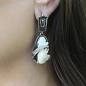 Украшения handmade. Livemaster - original item Earrings with white coral made of 925 silver ALS0010. Handmade.