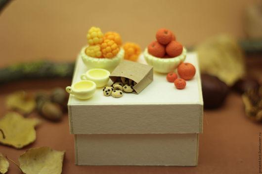 Миниатюра ручной работы. Ярмарка Мастеров - ручная работа. Купить Посудка из полимерной глины. Handmade. Разноцветный, домик
